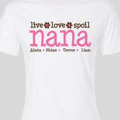 Grandma shirt best moms get promoted to grandma original for Customized heat transfers for t shirts