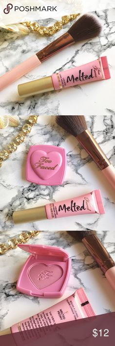 NIB  Too Faced  NEW Melted Lipstick in PEONY 1 Left  Too Faced  NEW. Melted Lipstick in PEONY ONLY!  Makes for adorable gifts or to keep in purse! Travel Size.(Can be bought in a set for $20)  No Trade ✔️ Same-Day/Fast Shipping  ✔️ Smoke/Free Home, packed by a perfectionist! ✔️☘️ Prices are firm for Too Faced Products ✔️ Please keep Poshmark fees in mind & be KiND!  Top 10% Seller  Too Faced Makeup Lipstick