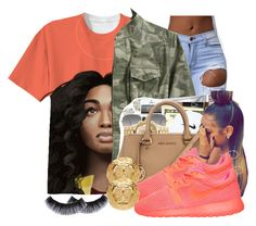 """""""Untitled #105"""" by thatgurlcandii ❤ liked on Polyvore featuring beauty, L.L.Bean, Ray-Ban, NIKE and Versace"""