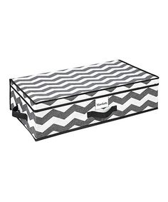 This Gray & White Zigzag 28'' Under-the-Bed Storage Box is perfect! #zulilyfinds