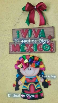 Resultado de imagen para coronas en madera country Mexican Fiesta Party, Diy And Crafts, Arts And Crafts, Mexican Crafts, Ideas Para Fiestas, Fabric Dolls, Painting On Wood, Hand Painted, Christmas Ornaments