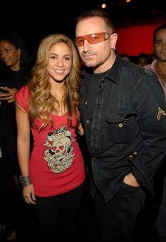 Shakira and Bono