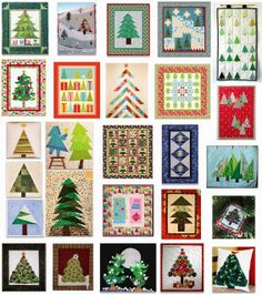 More than 25 free patterns for Christmas Tree Quilts.  Quilt Inspiration: Free pattern day part 1. Updated November 18, 2013.