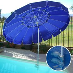 Too-Kool Pool Umbrella for In-Pool Shade | Solutions