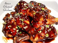 Healthy Asian Glazed Chicken Drumsticks #Recipe #Dinner