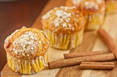 Deliciously healthy breakfast muffins combining orange, honey, cinnamon and quinoa flakes.  Just the thing for a healthy breakfast on the go.