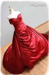 Red Wedding Dress Ball Gown - Audra Style