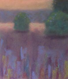 """Evening Meadow"" 8x9, pastel on paper, unframed"