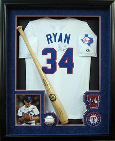 nolan ryan jersey frame csd framing Sports Frames, Framed Jersey, Sports Gallery, Nolan Ryan, Baseball Jerseys, Florida Home, Shadow Box, Custom Framing, Bar
