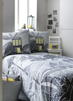 Bed linen - Marimekko, Beach House, Moomin and Chic Bedding, Linen Bedding, Ikea, Pottery Barn, Inside A House, Interior Design Advice, Bed Linen Design, Design Your Home, Diy Bed