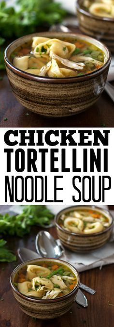 A simple, homemade chicken noodle soup recipe with tortellini. A secret ingredient takes it to the next level!