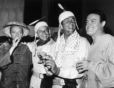Bing Crosby, Frank Sinatra, Dean Martin and Bob Hope having a good time.
