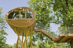 This fantasy home is brought to you by the brilliant Baumraum, a German-based company that designs and builds custom treehouses for grownup children all over the world.