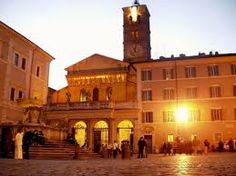 Piazza Santa Maria in Trastevere, Rome Santa Maria, Rome, Around The Worlds, Italy, Mansions, House Styles, Building, Places, Travel