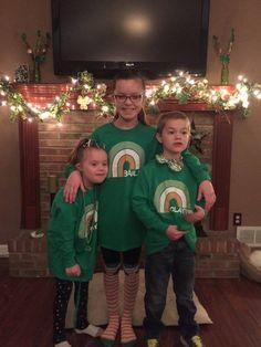St. Patty's Day fun wearing personalized Irish Rainbow shirts!!! http://www.inkpixi.com/items/irish-rainbow/irish-green/design