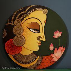 Pichwai Paintings, Mughal Paintings, Indian Art Paintings, Original Paintings, Madhubani Art, Madhubani Painting, Kalamkari Painting, Canvas Painting Tutorials, Diy Canvas Art