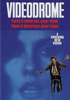 "Videodrome  1983 ""Sleazy TV executive Max Renn (James Woods) is looking for cheap, exciting programming for his fly-by-night channel when he fortuitously stumbles across a fuzzy satellite feed showing torture, punishment ... and possibly murder. A conspiracy is afoot as two competing groups fight for the 20th century's soul, using the airwaves as their battlefield. Renn searches for the truth, all the while obsessed by an on-air chanteuse (Deborah Harry)."""