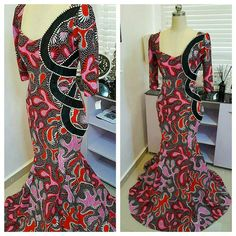 These Ankara styles will wow you! You will do a stand-up job by proving that a peplum doesn't need to be on a dress for max impact. A peplum creates… African Attire, African Wear, African Dress, Ankara Dress, African Lace, Ankara Long Gown Styles, Ankara Styles, Ankara Designs, African Print Fashion