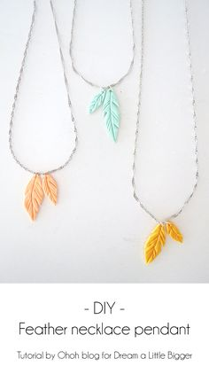 Sue - picture tutorial on How to make feather pendant with polymer clay