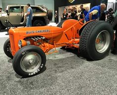 Eric Del Ponte's Hot Rod Allis Chalmers Yard Tractors, Lawn Mower Tractor, Small Tractors, Compact Tractors, Antique Tractors, Vintage Tractors, Ford Pickup Trucks, New Trucks, Lifted Trucks