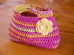 (4) Name: 'Crocheting : Easy Peasy Little Bag for Kids