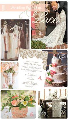 Lace Wedding Inspiration via Delphine