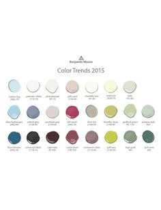 LOVE the Color Trends for 2015!