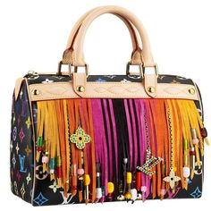 Louis Vuitton Speedy: Monogram Flecos Multicolor #louisvuitton #vuittonspeedy #speedy #rainbow #monogram #bag