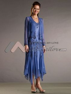 tea length mother of the bride dresses Reminds me of the dress I ...