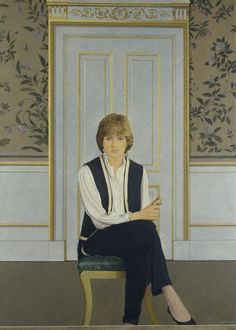 Lady Diana Spencer - This first official portait hangs at the National Portrait Gallery and iwas painted by Bryan Organ in 1981 to mark Diana's engagement to Prince Charles. Diana is depicted in the Yellow Drawing Room of Buckingham Palace. Lady Diana Spencer, Spencer Family, John Spencer, Princess Diana Family, Royal Princess, Princess Of Wales, Charles And Diana, Prince Charles, Princesa Diana