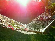My pink sunshine hammock @ Finca s'Almudaina