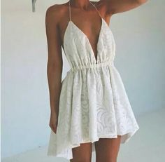 Very Cute Summer Outfit. This Would Look Good Paired With Any Shoes. - Street Fashion, Casual Style, Latest Fashion Trends - Fashion New Trends Casual Dresses, Short Dresses, Summer Dresses, Summer Outfit, Casual Summer, Pretty Dresses, Beautiful Dresses, Dress Skirt, Dress Up