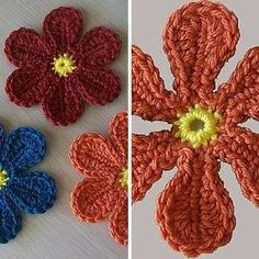 By dailycrochet - July 19th, 2016 I absolutely love those little crochet flowers! This Colorful Yarn Flower crochet pattern by Mimi is super fun and easy to make and such a great way to use scrap ...