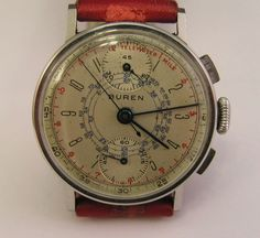 Vintage Buren Chronograph Watch Up Down Dials Cool Watches, Watches For Men, Wrist Watches, Antique Watches, Vintage Watches, Beautiful Watches, Luxury Watches, Chronograph, Watch Room