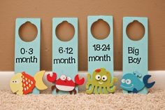 Sea Animals Nursery Closet Dividers. $20.00, via Etsy.