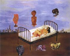 Henry Ford Hospital, 1932 by Frida Kahlo