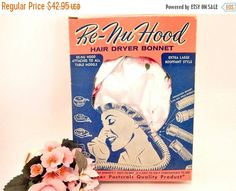 Hair Dryer Bonnet Re-Nu Hood Bouffant Style by SpringJewelryThings