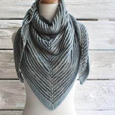 Free Triangle Shawl Knitting Pattern using Manos Serena Yarn