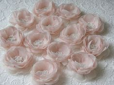Blush hair flower Blush ivory hair flower Ivory pink hair flower Blush cream wedding hair flower Light pink hair flower 3 inch hair flower Stuning hair flowers handmade with love in beautiful romantic colors: blush, cream and ivory colors. Cloth Flowers, Felt Flowers, Diy Flowers, Fabric Flowers, Paper Flowers, Tulle Flowers, Wedding Hair Flowers, Flowers In Hair, Flower Hair