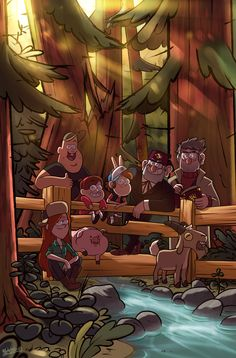 What a lovely picture of the Gravity Falls season 2 gang! Cudos to the artist for this artwork and the fantastic lighting of it, by the way! Fall Wallpaper, Tumblr Wallpaper, Cartoon Wallpaper, Disney Wallpaper, Iphone Wallpaper, Dipper Gravity Falls, Gravity Falls Poster, Gravity Falls Art, Desenhos Gravity Falls