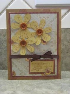 daisy using Stampin Up Friendship Blooms