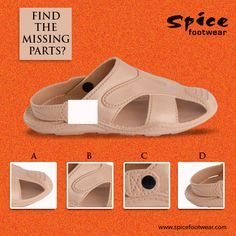 Its Friday fun day!! Can you guess the missing part in this image? #footwear #SpiceFootwear