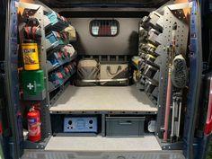 Van Organization, Garage Tool Organization, Truck Storage, Tool Storage, Diy Van Storage Ideas, House Gutters, Kangoo Express, Van Shelving, Van Racking