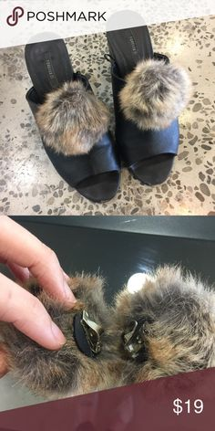 Adorable faux fur shoe clips Handmade (not by me) and super cute!   Never worn. Accessories