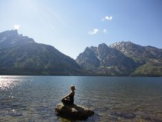 Jenny Lake @ Grand Tetons - I've been here, it's the most beautiful place I have ever been!