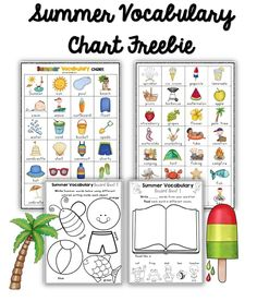 FREE Summer Vocabulary Chart  This freebie is ideal for K-2 students and can easily be integrated into your reading and writing program.  http://www.teacherspayteachers.com/Product/Summer-Vocabulary-Chart-Freebie-1260248