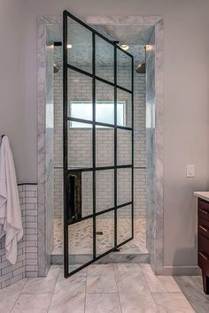 Add an abundance of natural daylight to your bathroom with the top 70 best shower window ideas. Explore circular to rectangular window designs. Modern Master Bathroom, Small Bathroom, Master Bathrooms, Bathroom Ideas, Condo Bathroom, Bathroom Canvas, Bathroom Black, Minimalist Bathroom, Design Bathroom