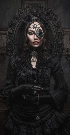 COM Amazing what a little jewelry can do to a look 0 Magnetic Gothic Steampunk Women Costumes - Steampunko Moda Steampunk, Style Steampunk, Gothic Steampunk, Steampunk Fashion, Victorian Gothic Fashion, Steampunk Outfits, Victorian Era, Dark Beauty, Gothic Beauty