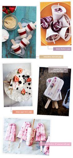 SO many kinds of popsicles, pops, ices, etc. Fruit pops, yogurt pops, pudding pops, rootbeer float pops, booze pops, etc