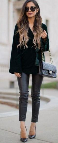 mia, mine, emerald, velvet, blazer, fall, street, style by 2 on Lolobu #mia  Pinterest:Caramelo DeFresa
